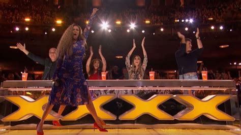 Tyra Banks Presses Golden Buzzer for Amazing Acrobatic