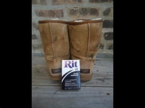 Dying My Thrifted UGG Boots! Tutorial - YouTube