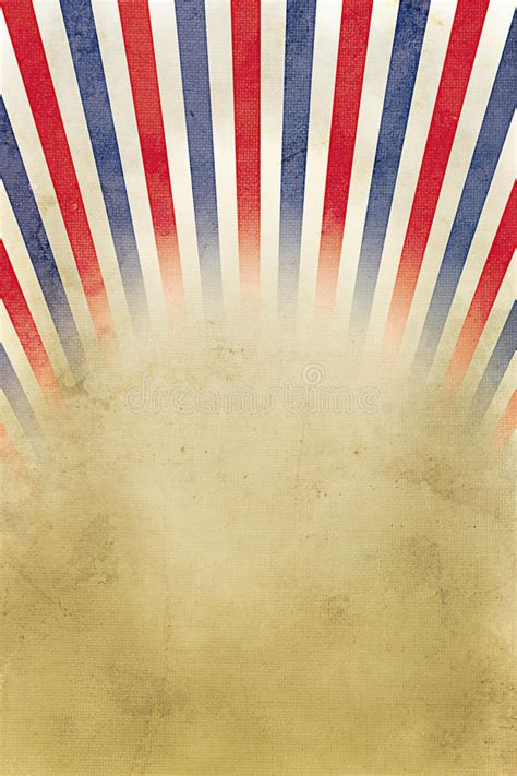 Retro Background Red, White And Blue Stripes Stock