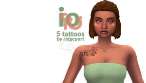Ridgeport's Io Tattoos – Sweet Sims 4 Finds