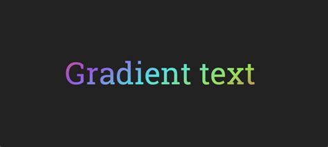 Colorful gradient text with CSS3 - Creative Punch