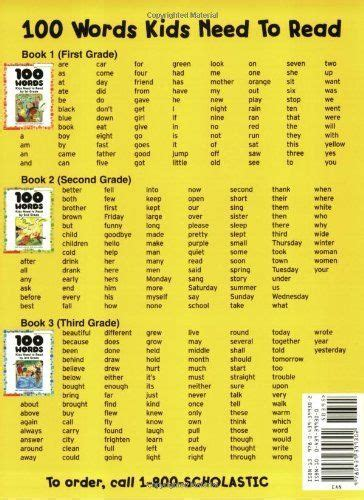 100 Words Kids Need To Read By 2nd Grade: Sight Word