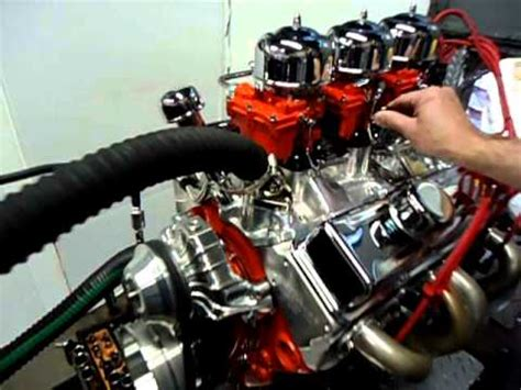 Chevy 350 400hp with a Tri-Power Setup on it - YouTube