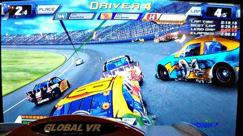 Nascar Team Racing Arcade Game At Dave & Buster's Ticket
